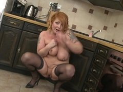 Chubby mom Alex with saggy tits and hungry cunt