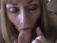 Deep Blowjob  and Gag From GILF