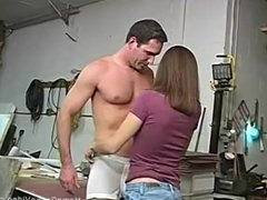 Sexy amateur gets into a naughty threesome