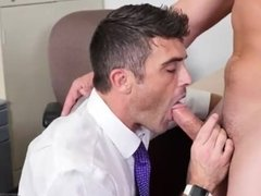 Gay and boy daddy eating cum Lance's Big
