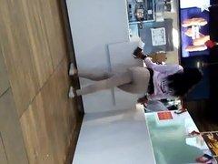 Young Thick Ebony Waiting On Food Inside McDonalds