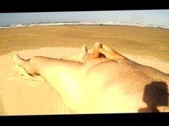 Me on the deserted beach