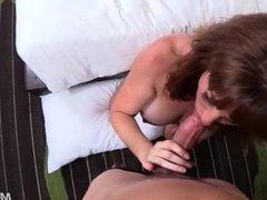 Beautiful Redhead Cougar Fucks Big Cock POV