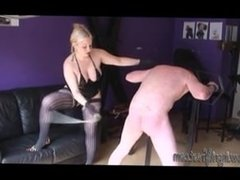 HARSH  CANING  !  AT THE MERCY OF  INGRID  FROST !