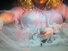 Nylon fetisch 10 - TV in nylons  and petticoat