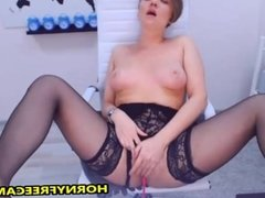 Big Ass Teacher In Black lingerie Enjoys Pussy Play