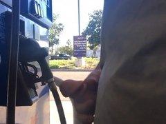 Gas station cum