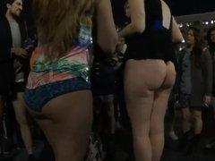 Girl shows her big ass