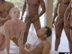 BLACKED Kendra Sunderland BBC interracial GANGBANG