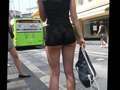 sexy teen ass on bus stop