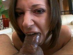 Brunette Slut JS Sloppy Deepthroat Face Fuck