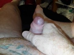 Wanking on the couch