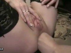 Deep fisting asshole of slave Mariska