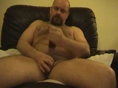 daddy bear playing with cock and sex toy