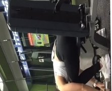 Hot asian teen slut at gym spy