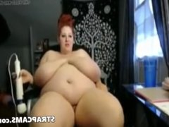 BBW Redhead Milf With Amazing Big Tits On Webcam