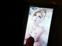 Mercy cosplay ahegao Cumtribute