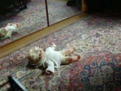 Baby doll's suffer under high heels