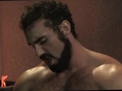 Big muscle and hairy gladiators
