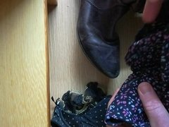 Pt.2 32B Co-worker wanking into her boots, bra knickers