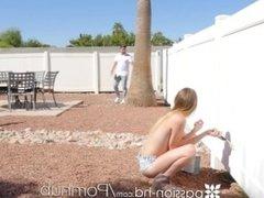 PASSION-HD Butt cheek painter Alex Blake creams on big dick