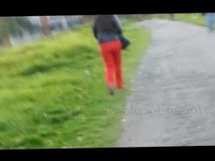 milf ass in red dress pants how exiting