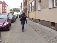 German Scout - Young Teen Seduce to Fuck on Berlin Street