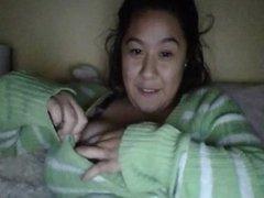 Mi novia tetona en webcam