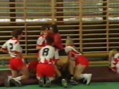 Crazy school german orgy from 90s