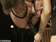 Goddess Starla And Tied Swinging Slave Girl Have Intense Orgasm Overload