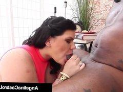 Cuban BBW Angelina Castro Fucks Santa & His Big Black Cock!