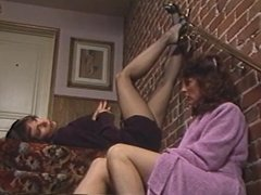 Classic sex on the stairs