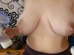 Breast milk pumping. BRA