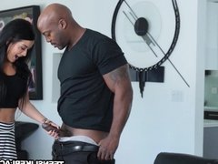 Sexy babe Katrina Jade gets her pussy stuffed with BBC