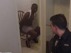 White Cops Fuck Black Chick, Force Boyfriend to Watch