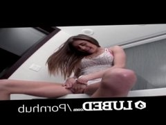 LUBED After bath tub massage fuck with lubed up Rebel Lynn