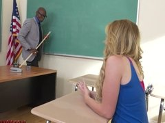 Slutty schoolgirl Britney Light takes teacher's BBC