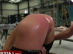 Anal play with pink haired Mistress with tattooes