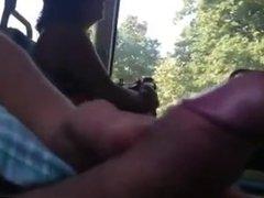 Flash dick en bus