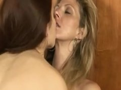 Stepmom and his wife have lesbian sex