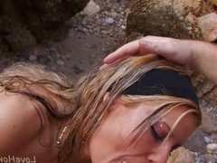 Shapely Blonde Hits The Beach For Anal