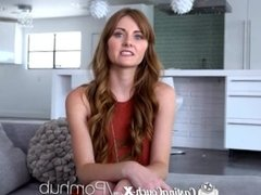 CastingCouch X Blue eyed redhead Miley Cole fucks casting agent