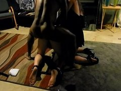 Sissy hubby shackled and fucked