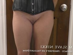 Slave nikki, first spanking on video