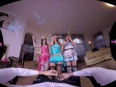 18VRcom New Year's Anal Foursome With Naomi, Ellen Betsy And Elena Vega
