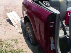 Car Upskirt girl problem with car 4