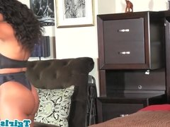 Bigbooty solo trans queen twerks and strips