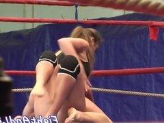 European lesbian pleasures her opponent