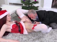 TeenMegaWorld -Old-n-Young -Masturbation under Cristmas tree