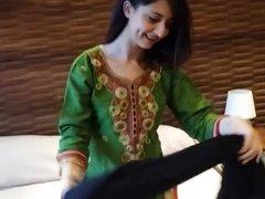 Desi paki secretary with Arab boss hotel Randi strip panty